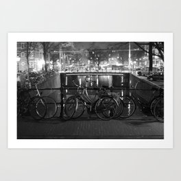 Bike's on the bridge Art Print