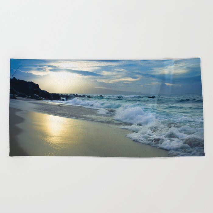One Dream Sunset Hookipa Beach Maui Hawaii Beach Towel