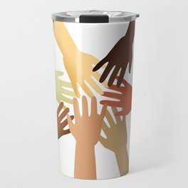 Diverse Hands Travel Mug