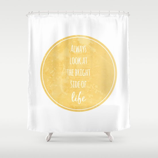 Bright Side Shower Curtain