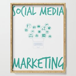 Social Media Can Wait Time For Marketing Serving Tray