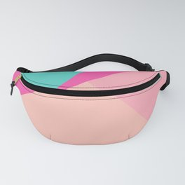 Pastel pink turquoise modern geometric color block pattern Fanny Pack