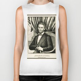 Abraham Lincoln - Sixteenth President of the United States Biker Tank