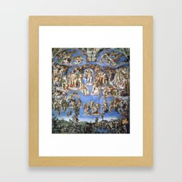 "Michelangelo ""The Last Judgment"" Framed Art Print"