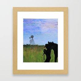 Always That One Horse Framed Art Print