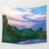 racoon Wall Tapestries featuring Little Racoon River by Judith Lee Folde Photography & Art