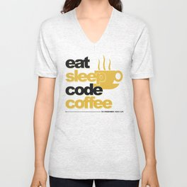 Programmer - eat sleep code coffee Unisex V-Neck