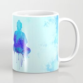 Watercolor zen Buddha blue Coffee Mug