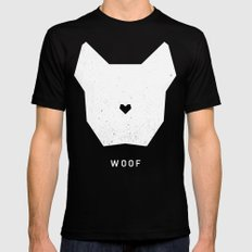 WOOF Black LARGE Mens Fitted Tee