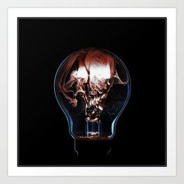 Burning Bulb - Tesla Art Print