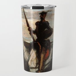 Don Quixote In The Mountains by Honore Daumier Travel Mug