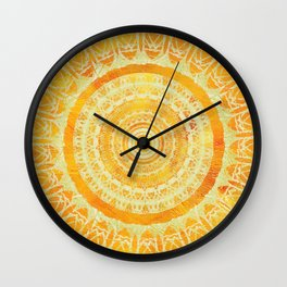 Sun Mandala 4 Wall Clock