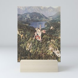 old placard Schloss Neuschwanstein Mini Art Print