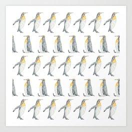 Penguin March Art Print