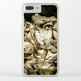 "Vette Series 2: Wild Thing, Blk & Wht"" Clear iPhone Case"