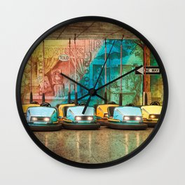 Bumper Cars Wall Clock