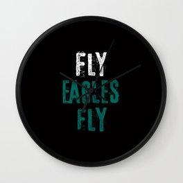 Fly Eagles Fly Wall Clock