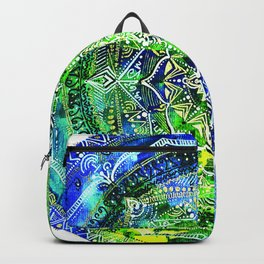 SacredBorealis Blue Backpack