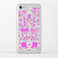 Kitten Lovers – Pink Ombré Clear iPhone Case