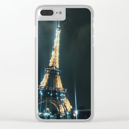 Sparking Night in Paris Clear iPhone Case