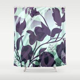Sassy Sedge - cool colors Shower Curtain