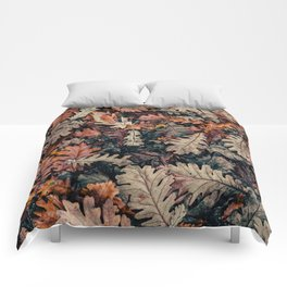 Autumn Leafs Pattern (Color) Comforters