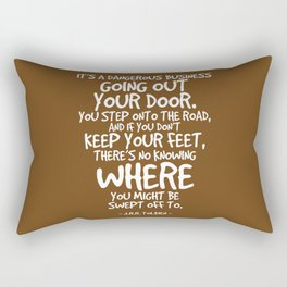 Swept Away Quote - J R R Tolkien Rectangular Pillow