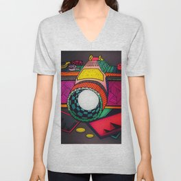 Fun With Coloring Photography Unisex V-Neck