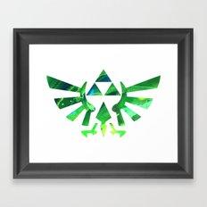 The Legend of Zelda Triforce Green Framed Art Print