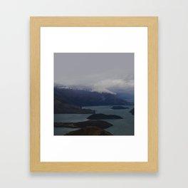 Mountain Series  Lake Wanaka Aerial Framed Art Print