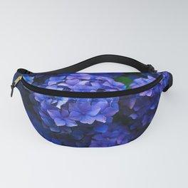 Royal Blue Hydrangea Flowers In Bloom Fanny Pack