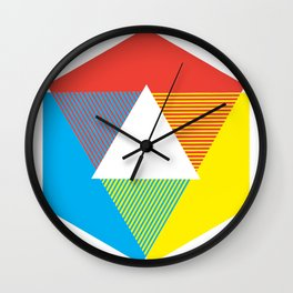 Color Wheel print, Color Chart Rainbow design by Christy Nyboer / Little Lark Wall Clock