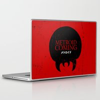 metroid Laptop & iPad Skins featuring House Metroid by Alecxps