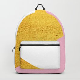 Gold & Pink Geometry Backpack