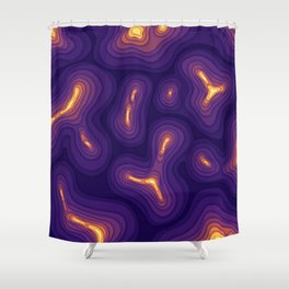 Heat Topography Shower Curtain