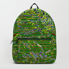 Digital flower 3 Backpack