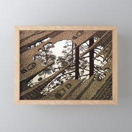 Esher - Puddle Framed Mini Art Print