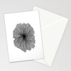 Jellyfish Flower B&W Stationery Cards