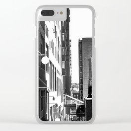 Pike Place (B+W) Clear iPhone Case
