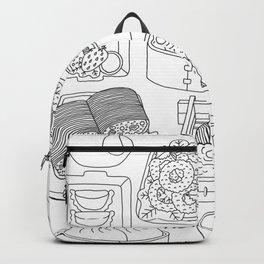 Sunday Dim Sum - Line Art Backpack