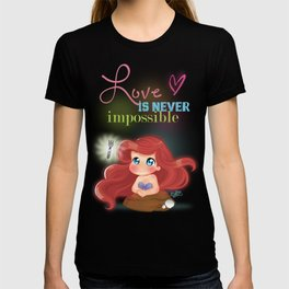 Ariel Little Mermaid Chibi T-shirt