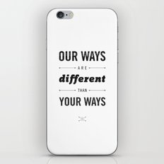 Us and Them: Chief Seattle iPhone & iPod Skin