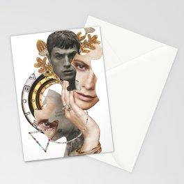 Papercollage Golden Oak Love by Lenka  Laskoradova Stationery Cards