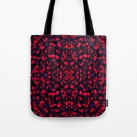 crystals Tote Bags featuring Crystals  by Claudia Owen