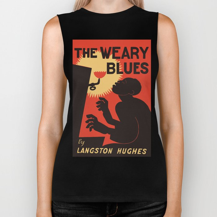 Retro The Weary Blues (music) Biker Tank
