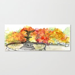 Central Park: Bethesda Fountain Canvas Print
