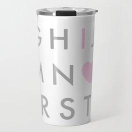 I Love You Pink Travel Mug