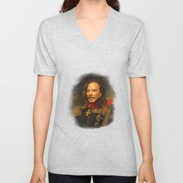 Mickey Rourke - replaceface Unisex V-Neck