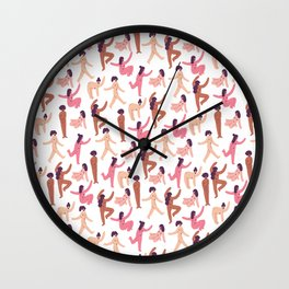 Colorful Nude Girls Wall Clock
