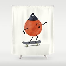 Skater Buoy Shower Curtain